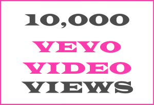 10K Vevo + YT Video Views – INFO HERE