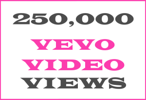 250K Vevo + YT Views – INFO HERE